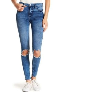 Free People Busted Knee Ankle Skinny Jeans $78